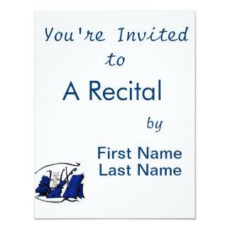 bust blue lyre violin sheet music design.png 4.25x5.5 paper invitation card