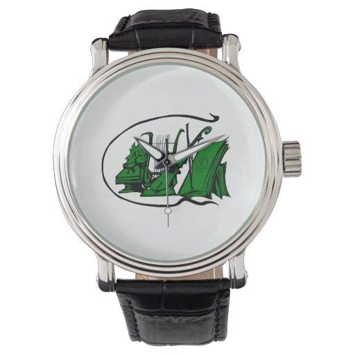 bust green lyre violin sheet music design.png wrist watch