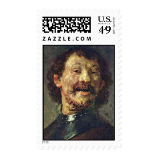 Bust Of A Laughing Man In.,  By Rembrandt Postage