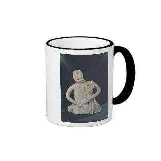 Bust of a Mother Goddess Ringer Coffee Mug