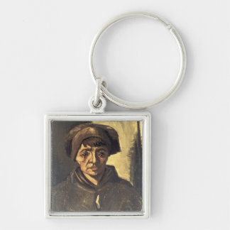 Bust of a Peasant, 1884 (oil on canvas) Keychain
