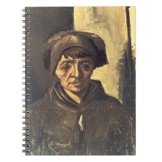 Bust of a Peasant, 1884 (oil on canvas) Spiral Notebooks