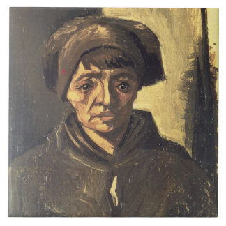 Bust of a Peasant, 1884 (oil on canvas) Tile