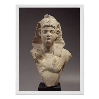 Bust of a Roman Emperor as a pharaoh (marble) Poster