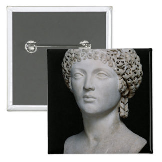 Bust of a Roman woman, possibly Poppaea Pinback Button