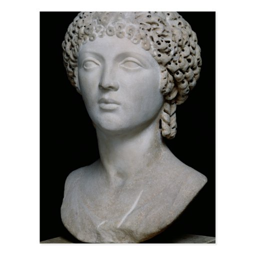 Bust of a Roman woman, possibly Poppaea Post Card