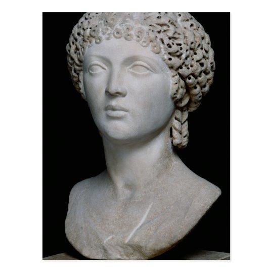 Bust of a Roman woman, possibly Poppaea Postcard