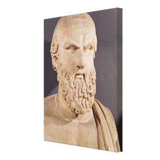 Bust of Aeschylus Stretched Canvas Print