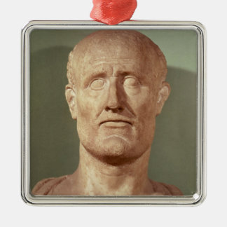 Bust of Alcibiades Metal Ornament