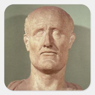 Bust of Alcibiades Square Sticker