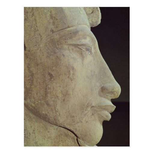Bust of Amenophis IV from Temple of Amun, Postcard