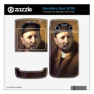 Bust of an old man with a cap by Rembrandt BlackBerry Bold Decals