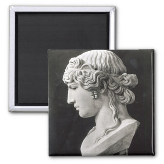 Bust of Antinous  called 'Antinous Mondragone' 2 Inch Square Magnet