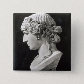 Bust of Antinous  called 'Antinous Mondragone' Button
