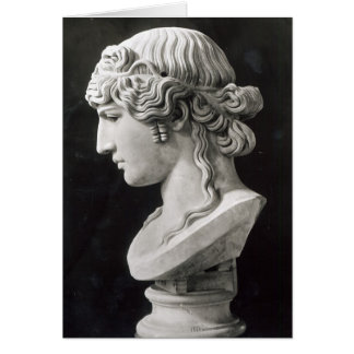 Bust of Antinous  called 'Antinous Mondragone' Card