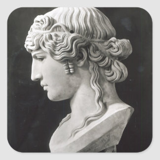 Bust of Antinous  called 'Antinous Mondragone' Square Sticker