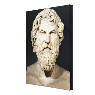 Bust of Antisthenes Canvas Prints