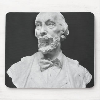 Bust of Auguste Vacquerie Mouse Pad