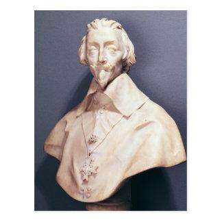 Bust of Cardinal Richelieu  c.1642 Postcard
