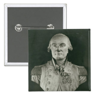Bust of Charles de Coulomb 2 Inch Square Button