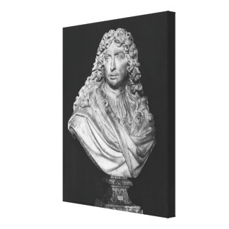 Bust of Charles Le Brun, 1679 Canvas Print