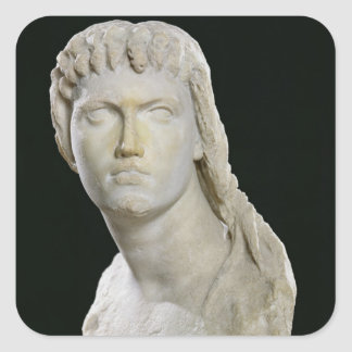 Bust of Cleopatra II or her daughter Square Sticker