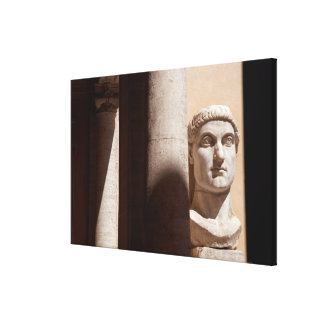 Bust of Constantine, Palazzo dei Conservatori Canvas Print