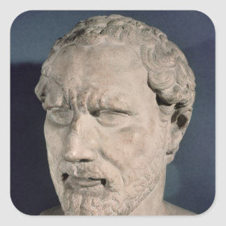 Bust of Demosthenes Square Sticker