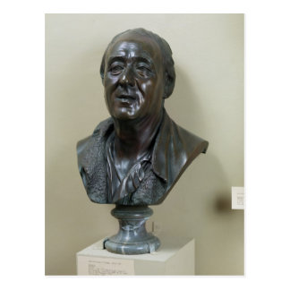 Bust of Denis Diderot  1777 Postcard