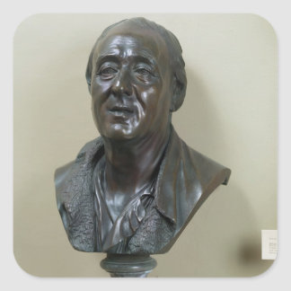 Bust of Denis Diderot  1777 Square Sticker
