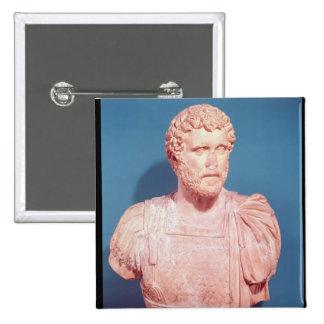 Bust of Emperor Antoninus Pius 2 Inch Square Button