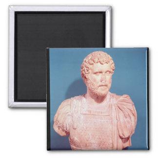 Bust of Emperor Antoninus Pius 2 Inch Square Magnet