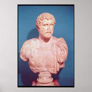 Bust of Emperor Antoninus Pius Poster