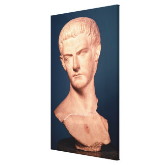 Bust of Emperor Caligula  from Thrace, c.39-40 AD Canvas Print