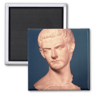 Bust of Emperor Caligula from Thrace c 39-40 AD Fridge Magnets