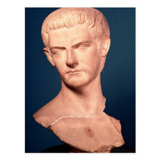 Bust of Emperor Caligula  from Thrace, c.39-40 AD Postcard