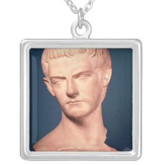 Bust of Emperor Caligula  from Thrace, c.39-40 AD Silver Plated Necklace