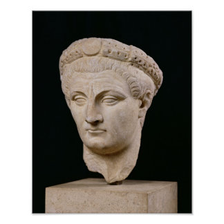 Bust of Emperor Claudius  from Thasos Poster