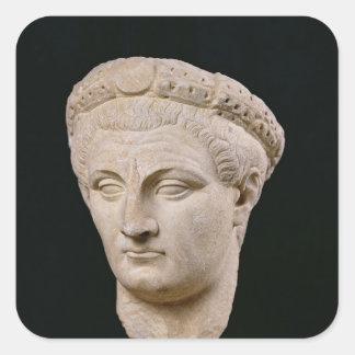Bust of Emperor Claudius  from Thasos Square Sticker