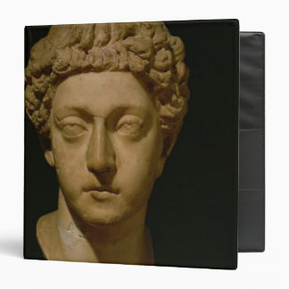 Bust of Emperor Commodus 3 Ring Binder