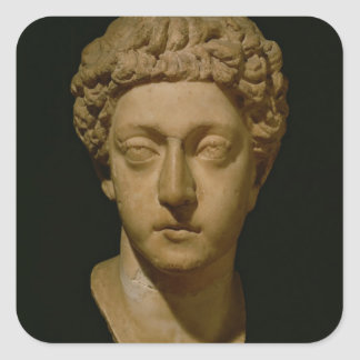 Bust of Emperor Commodus Square Sticker