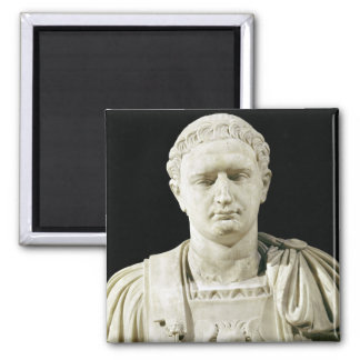Bust of Emperor Domitian 2 Inch Square Magnet