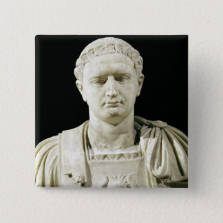 Bust of Emperor Domitian Button