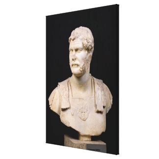 Bust of Emperor Hadrian  found in Crete Canvas Print