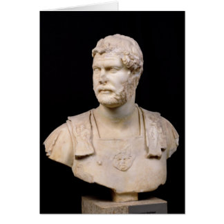Bust of Emperor Hadrian  found in Crete Greeting Card