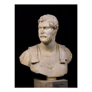 Bust of Emperor Hadrian  found in Crete Poster