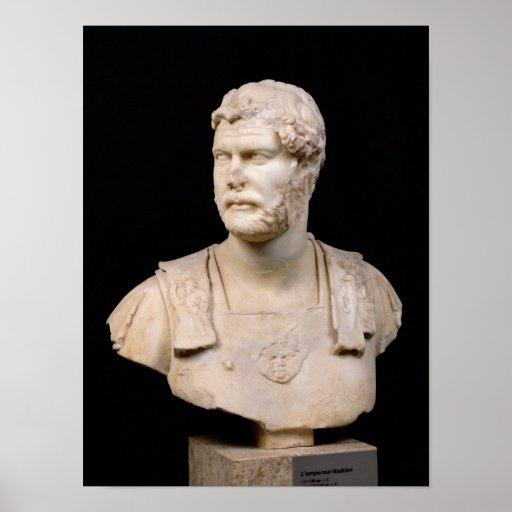 Bust of Emperor Hadrian  found in Crete Poster