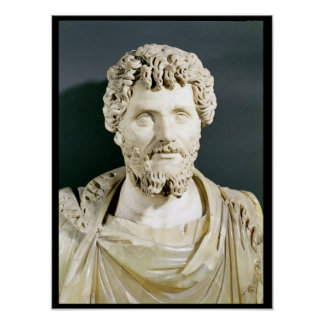 Bust of Emperor Septimus Severus Posters