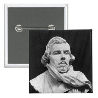 Bust of Eugene Delacroix Button