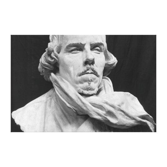 Bust of Eugene Delacroix Canvas Print